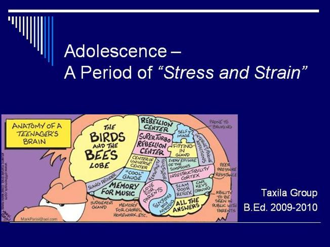 an analysis of the period of adolescence Adolescent psychology studies the  goes through when growing up and the analysis and treatment of the various  adolescence (12.