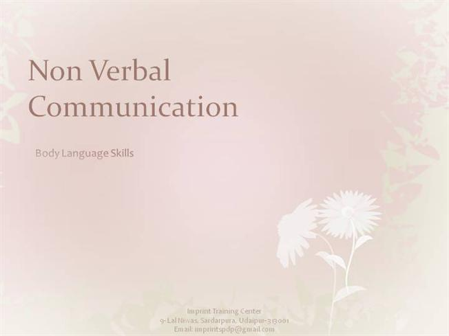 nonverbal communication term paper