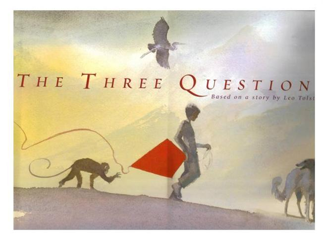 three questions I've chosen three questions from readers to discuss in this week's post to those who sent me these questions, please recognize my answers are by necessity general as i obviously don't know you personally nor the details of the situations you wrote about i do hope my answers can provide you new.