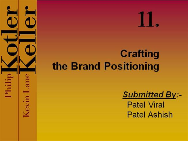 crafting the brand positioning essay