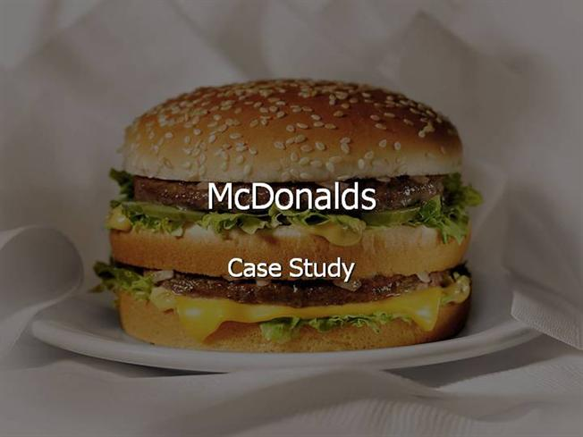 mc d case study Mcdonald's is a fast food company, which was created in 1940 by dic and mac  mcdonald in san esteban, california, usa however, ray kroc.