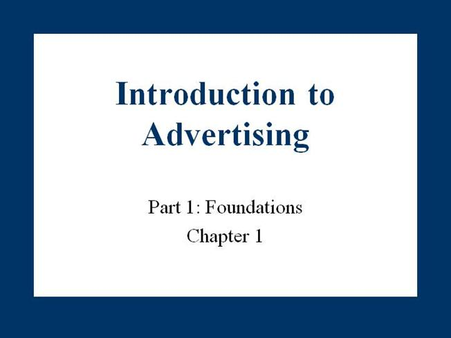 introduction to advertising An effective and easy step-by-step way to understand the basic concepts and principles of marketing.