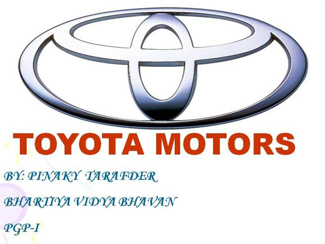 Toyota Motors Authorstream