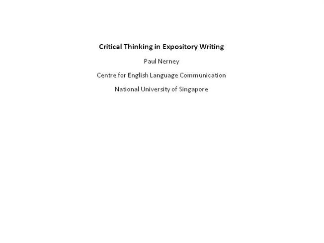 Essay on thinking