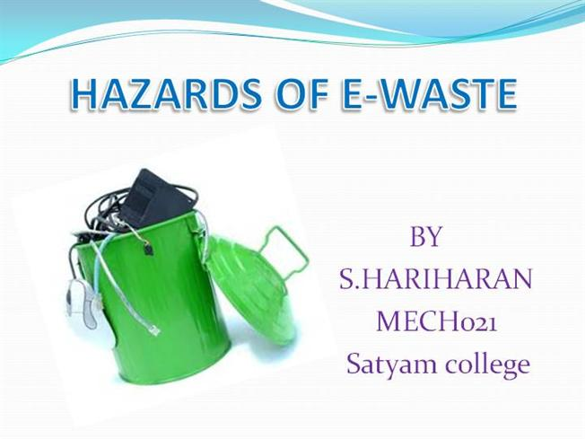 research papers on hazardous-waste management