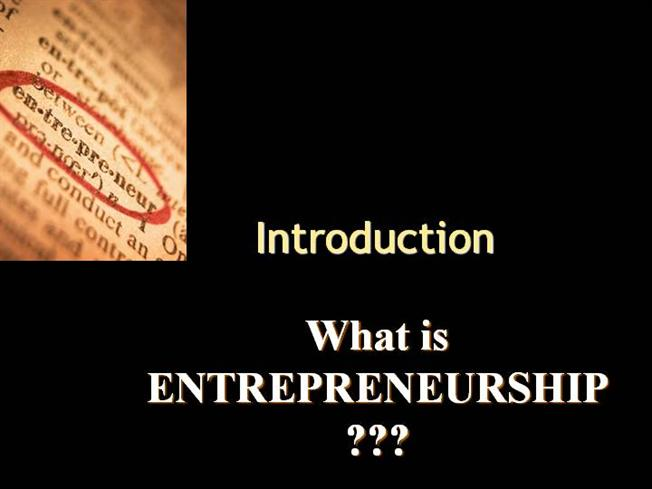 intro to entrepreneurship