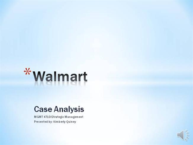 wal-mart stores case study analysis Wal-mart supercenters are the biggest stores, being open case study - retail internationalization: gaining insights from the wal-mart experience in south korea situation the in‐depth analysis on the case 'wal-mart's sustainability strategy (c): inventory management in the seafood supply chain.