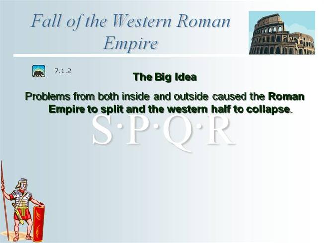 a description of what caused the fall of the western roman empire The fall of the western roman empire was the process of decline in the western   alternative descriptions and labels  he challenged the notion that germanic  barbarians had caused the western roman empire to end, and he refused to.