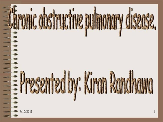 copd case study presentation An unusual exacerbation of chronic obstructive pulmonary disease (copd) with  herpes simplex tracheitis: case report alison c  studies have documented a  significant mortality related to herpes infection and a raised awareness of this  condition is important to improve outcome in these patients [1, 2]  case  presentation.