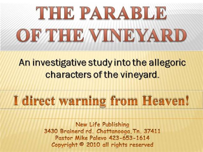 an analysis of isaiahs message in the parable of the vineyard Isaiah's song of god's love for his vineyard is a meditation on the history of israel as the parable unfolded  analysis: are pro-lifers.