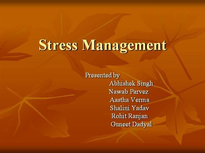 stress management review of literature 30 asheka mahboob and tanzin khan: technostress and its management techniques: a literature review causing work stress in the lives of the employees can be dealt.