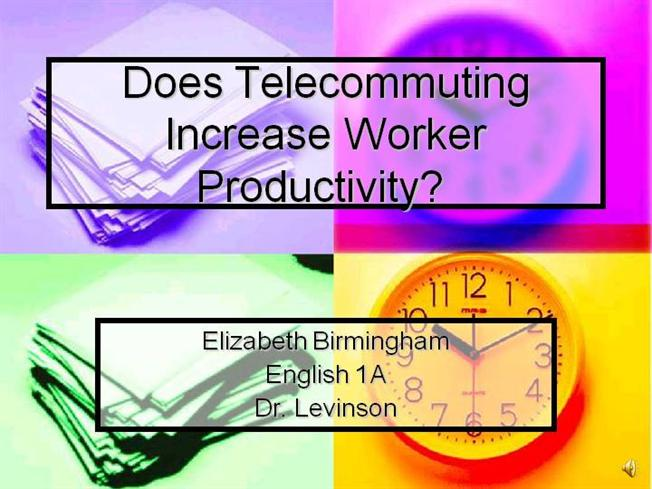 telecommuting increases productivity essay Proponents of telecommuting, however calculated that it realized $195 million in productivity gains from its approach in just one year.
