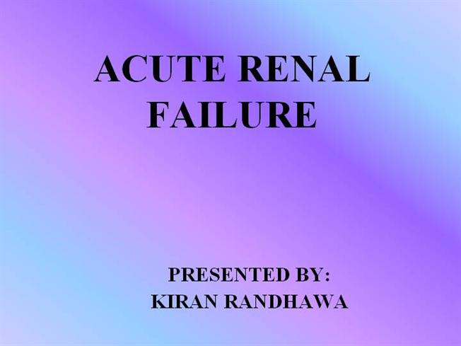 renal failure essay Buy renal failure essay paper online indeed, the number of medical disorders that are present in this world is astonishingly big, notwithstanding the fact that more and more of the disorders come up as we continue.