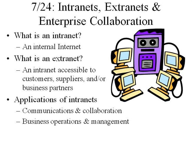 impact internet intranet and extranet business
