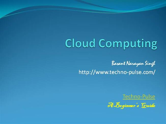 Free Download Cloud Computing PowerPoint Presentation