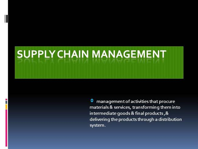 "dell computers case study supply chain management Strategic management, case analysis dell has been known as ""dell computer corporation"" (linking the supply chain through to the customer."