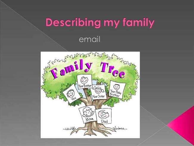 describe my family These 20 free creative writing prompts deal with describe the first time you introduced a boyfriend or girlfriend to your immediate family 10 describe the.