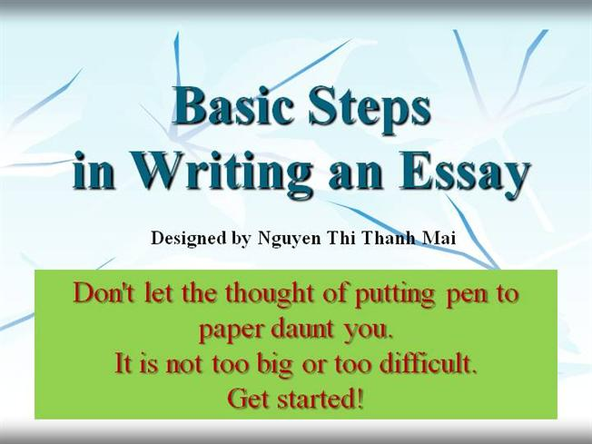 steps of writing an essay