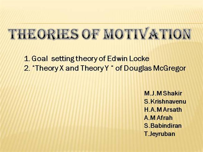 essays on goal setting theory