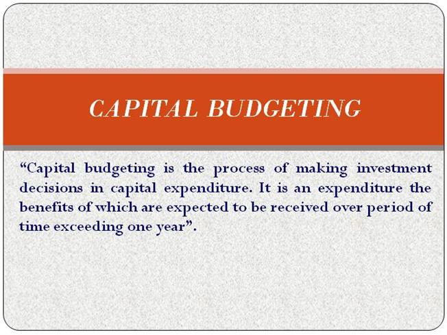 Phd thesis on capital budgeting
