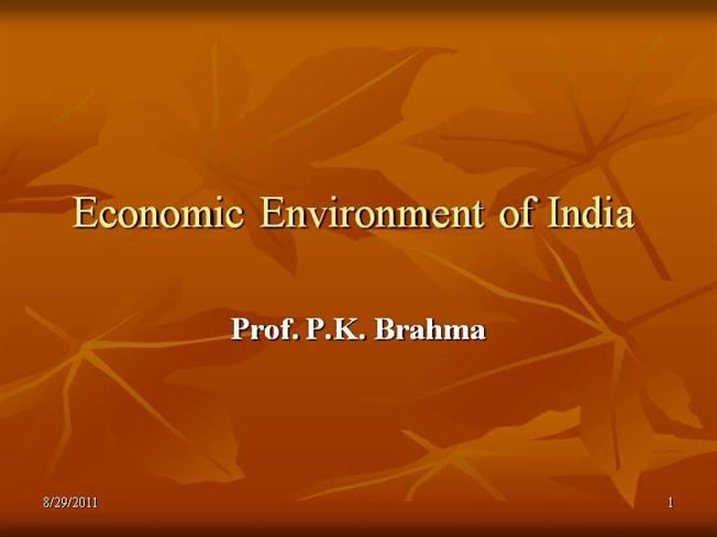 indian economic environment 2 economic factors the economy of india has been significantly stable, since the introduction of the industrial reform policies in 1991 as per the policy, reductions in industrial licensing, liberalization of foreign capital, formation of fibp and so on, has resulted in a constant improvement of india's economic environment.