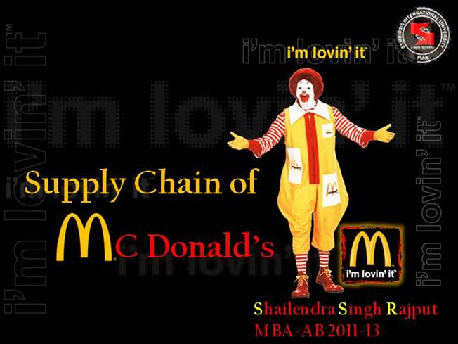 mcd supply chain Companies that supply original  what are tier one, two and three suppliers  a tier one company directly supplies the manufacturer in a manufacturing supply chain.