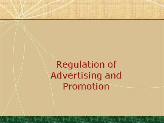 regulation of advertising and promotion Federal laws governing ads  prescription drug advertising regulation  a mailed promotion must clearly disclose that the sweepstake is a game and must include.