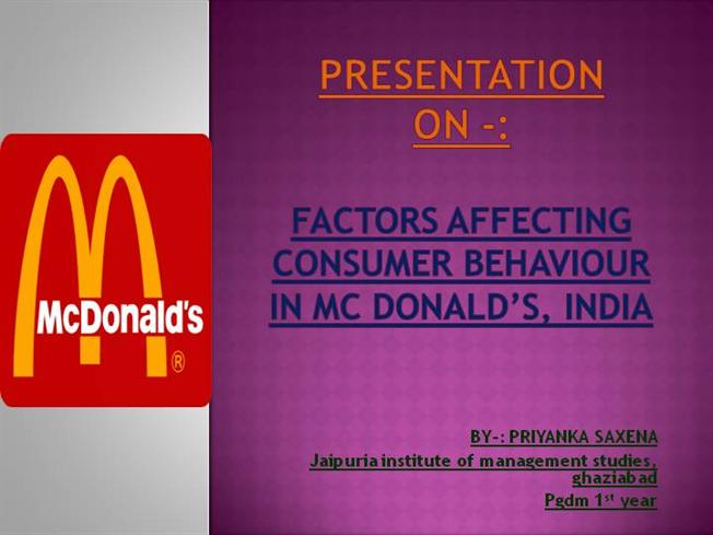mcdonalds india success factors Mcdonalds menu in india may come as a bit of a surprise here is what you can and can't get at mcdonalds india.