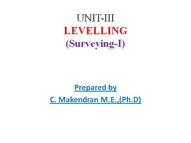 surveying and levelling mcq pdf