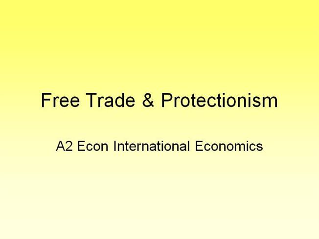 """free trade and protectionism """"turn to the leading us newspapers these days and you will read about the 'loss of nerve', even 'loss of faith', in free trade by economists"""", writes jagdish bhagwati, professor of economics and law at columbia university and senior fellow at the council on foreign relations but, he argues, """"free trade is alive and well."""