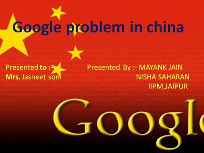 """googles problem in china Business ethics in early 2006, search-engine giant google struck a deal with the people's republic of china and launched googlecn, a version of its search  2 thopmpson, c """"google's china problem (and china's google problem)"""" the new york times magazine (april 23, 2006): lexisnexis duke."""