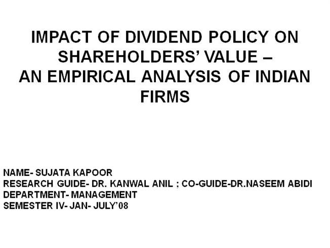 paper presentation on dividend policy