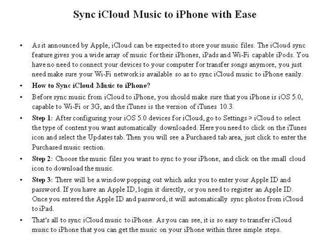 how to download all icloud music to iphone