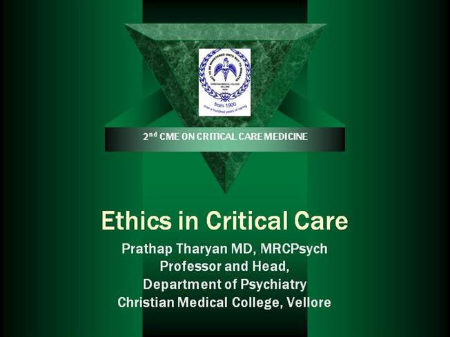 Rent critically thinking about medical ethics