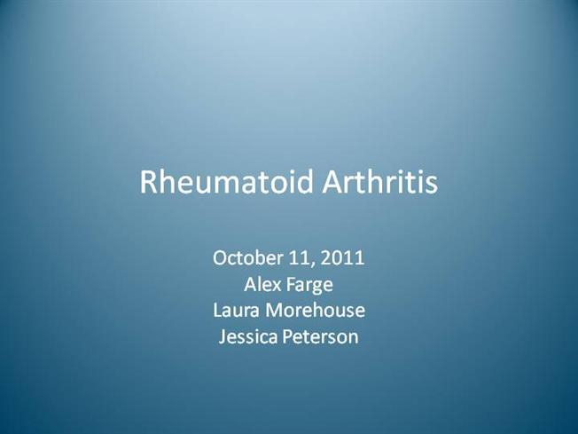 rheumatoid arthritis case study essay Which of the following is the most appropriate definition for ra 1painful degenerative joint disease 2inflammatory reponse to deposition of crystals in joints.