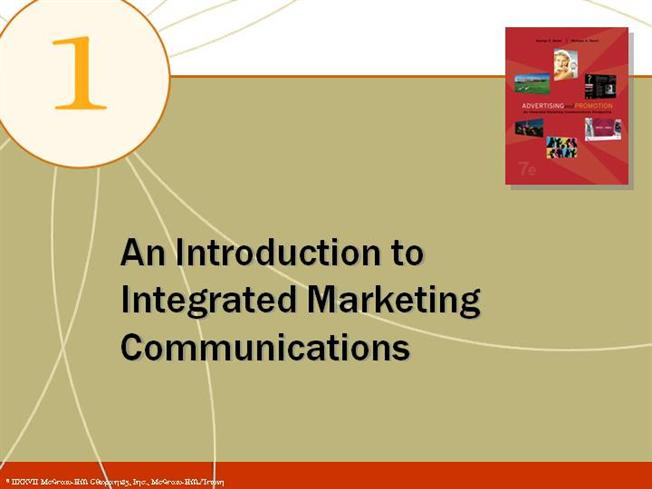 introduction to integrated communication About this publication: introduction to marketing communications looks at the variety of marketing communication tools used by advertising agencies today in pursuing brand success.