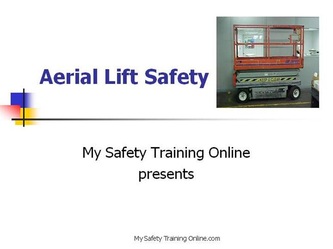 Aerial lift safety v5 authorstream for Scissor lift certification card template