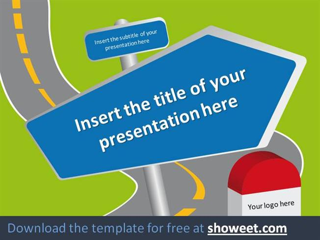 Road Signs Powerpoint Template Authorstream