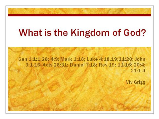 understanding the kingdom of god The kingdom of god, the kingdom of heaven, the great commission, and the implementation of biblical ethics and biblical worldview are one and the same b the kingdom began with jesus christ's ministry on earth and the procession of the holy spirit from the father and the son.
