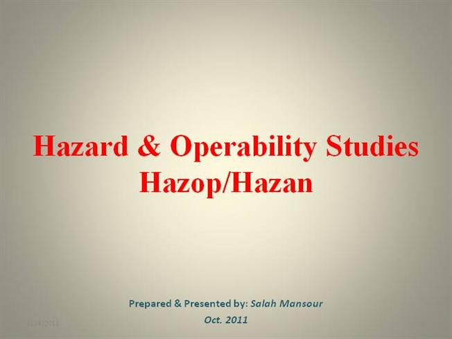 Get Certified in HAZOP | Easy e-learning training course ...