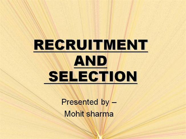 selection process in hrm pdf