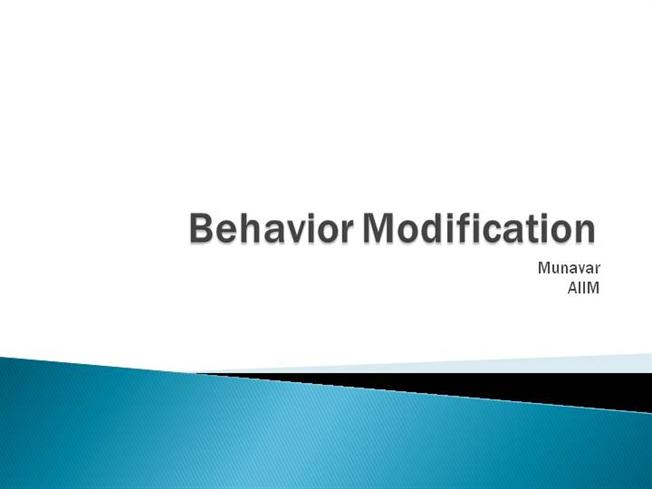 behavior modification applied behavior analysis can While such programs can come from a variety of behavioral change theories, the most common practices rely on the use of applied behavior analysis principles: positive reinforcement and mild punishments (such as response cost and time-out.
