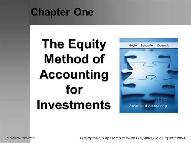 ch 1 the equity method of Here is the big idea: there is a fundamental disconnect between the way we pitch anything in the way it is received by our audience you need to understand why this disconnect occurs in order to overcome it, succeed, and profit below i have provided the first chapter of pitch anything which addresses the.