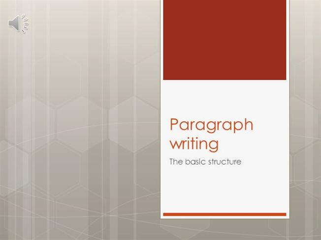 powerpoint presentation on paragraph writing Introduce or reinforce narrative writing with this 37 slide presentation complete with custom animations that actually result in almost 100 different views.