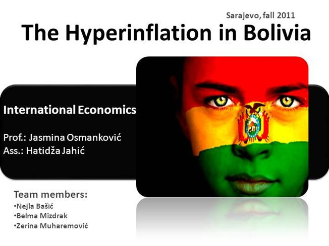 inflation in bolivia In this document the determinants of food inflation in bolivia for the period 2000- 2014 are analyzed using monthly data a dynamic ols model.