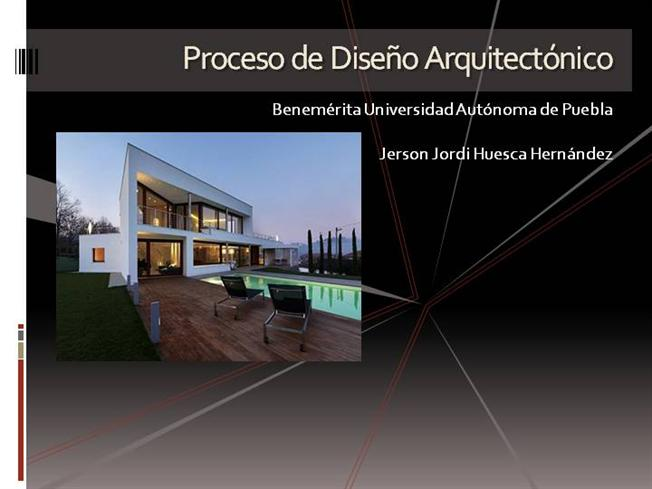 proceso de dise o arquitect nico authorstream