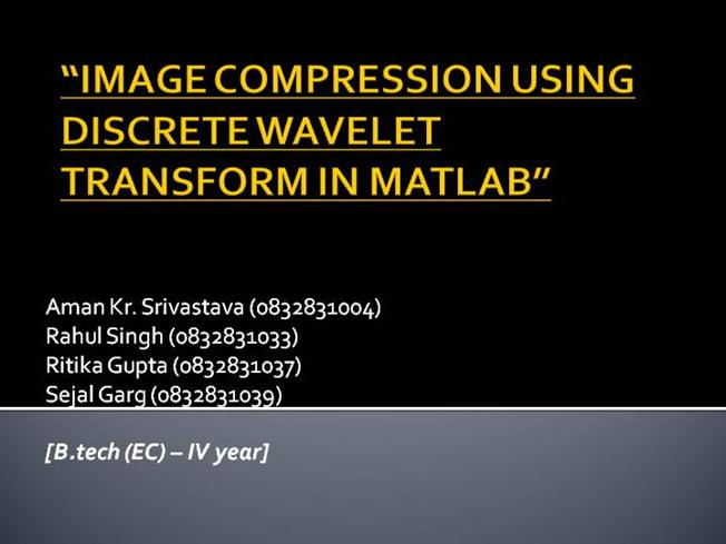 thesis on image fusion using wavelet transform Fusion of short-mid wavelength infrared image and long wavelength image using discrete wavelet transform for image quality enhancement an undergraduate honors college thesis.