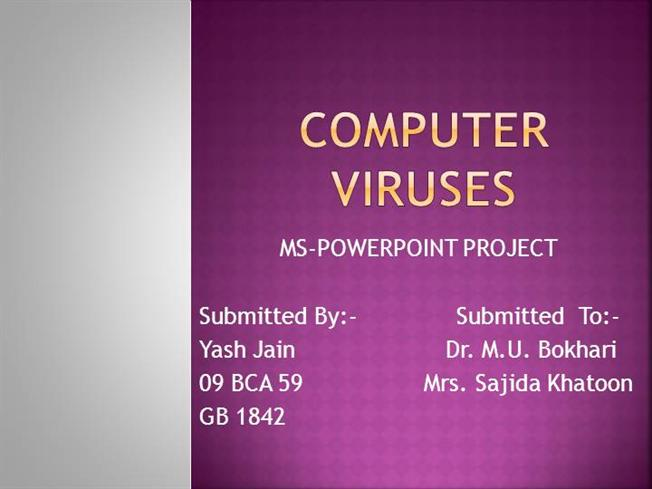 an introduction to computer viruses A computer virus can cause a lot of damage find out about worms, computer virus history, origins, and evolution, and how to protect your computer.