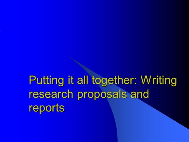 puting together a research paper