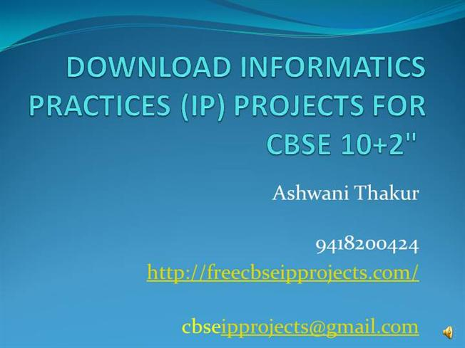Download Informatics Practices Ip Projects Cbse Xii